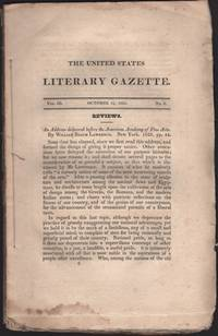 United States Literary Gazette. Vol. III, No. 2, including the Literary Advertiser, The.