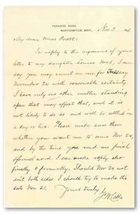 "[Autograph Letter, Signed ""G.W. Cable""]"