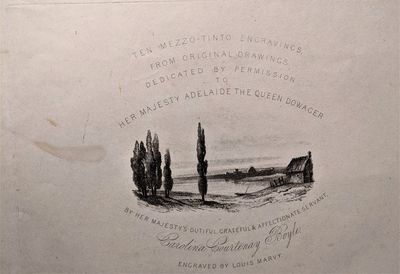 Oblong folio. Leaf size, 435 c 300 mm., ; Plate size, 250 x 160 mm., . Ten soft ground etching...