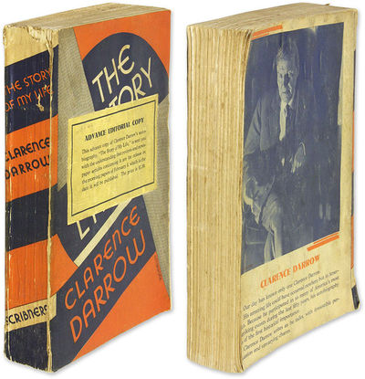 1932. Advance Editorial Copy of Darrow's Autobiography Darrow, Clarence . The Story of My Life. New ...