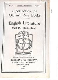 Catalogue 234/n.d. : English Literrature Part IX (Kem-Mal)