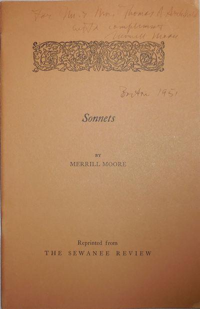 Sewanee, TN: University Press, 1938. Reprint. Paperback. Very Good. Stapled printed wrappers. 36 pp....