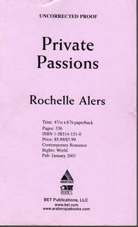 image of Private Passions - Uncorrected Proof