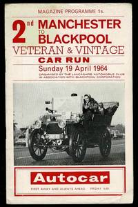 image of The Second Manchester to Blackpool Veteran & Vintage Car Run Programme 1964