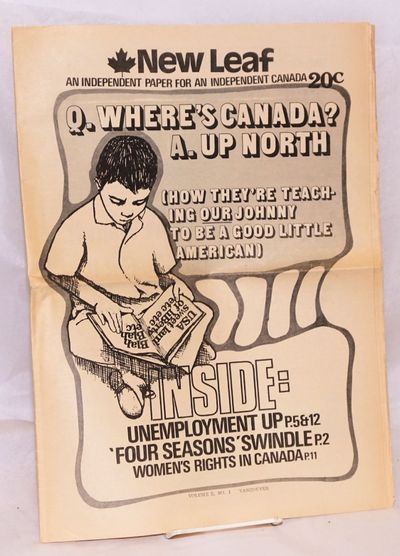 Vancouver, BC: the newspaper, 1971. 16p., tabloid format newspaper, mild toning, standard horizontal...