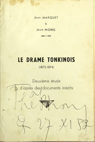 : Impr. d'Extrême-Orient, 1947. Small folio, pp. -204, portrait, 2 maps, village plan; very good in...