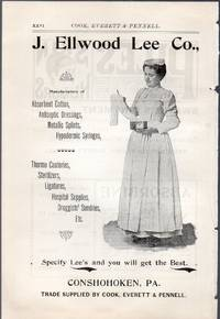 image of An Original 1896 Full Page Advertisement for Medical Supplies J. Ellwood  Lee Company