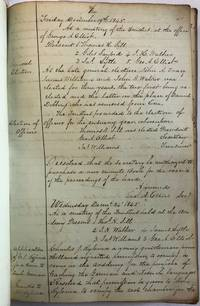 MANUSCRIPT BOOK OF MINUTES OF THE BOARD OF TRUSTEES OF THE ERIE ACADEMY, PENNSYLVANIA, DECEMBER 19, 1845 TO DECEMBER 6, 1867