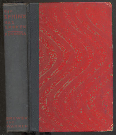 New York: Brewer and Warren, Inc, 1930. Hardcover. Good. First edition. Translated by Metcalfe Wood....