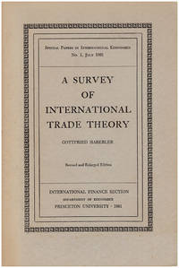 A Survey of International Trade Theory (Special Papers in International Economics)