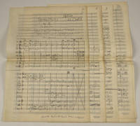 Symphony No. 2. In two movements. Autograph musical manuscript full score and associated material