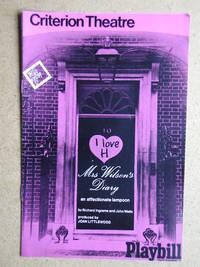 Mrs Wilson's Diary By Richard Ingrams & John Wells. Theatre Programme.