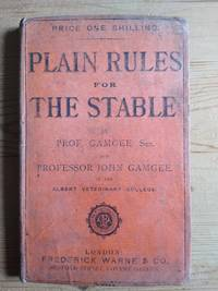 image of Plain Rules For The Stable