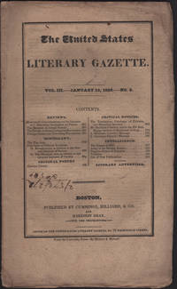 United States Literary Gazette. Vol. III, No. 8, including the Literary Advertiser, The.