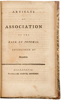 Articles of Association of the Bank of Potomac, Established at Alexandria
