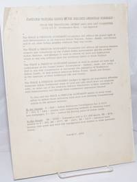 Platform proposal passed by the Minority Liberation Workshop: From the Traditional Indian Land and Life Committee [handbill]