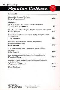 The Journal of Popular Culture: Volume 42, Number 5, October 2009
