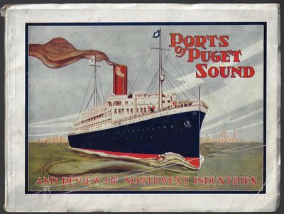 Seattle: Pacific Ports Magazine, 1921. Softcover. Good. 9 x 11.75 inches (oblong), in colorful picto...