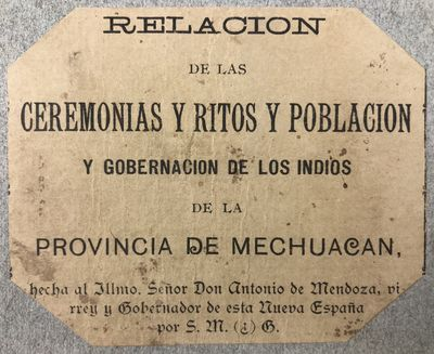 [First Mexican edition of the Codex...