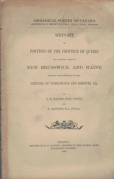 Ottawa: S.E. Dawson, 1893. First edition. Paperback. Orig. printed, stitched tan wrappers a bit soil...