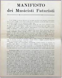 Manifesti dei Musicisti Futuristi by  Balilla [Futurist Music] Pratella - [1910] - from Kenneth Mallory Bookseller. ABAA and Biblio.com