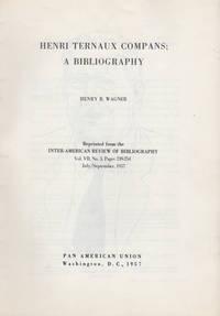 Henri Ternaux Compans; A Bibliography