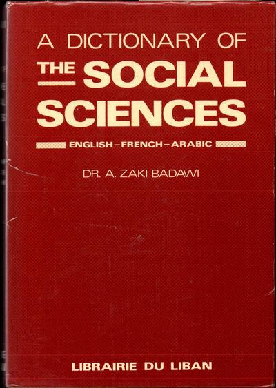 Beirut: Librairie Du Liban, 1978. Hardcover. Very good. xvi, 589pp. Very good hardback in a very goo...