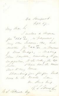 No place. An autograph letter signed