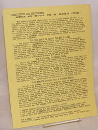 image of Postal strike aids all workers! Answer any troops' use by general strike! [handbill]
