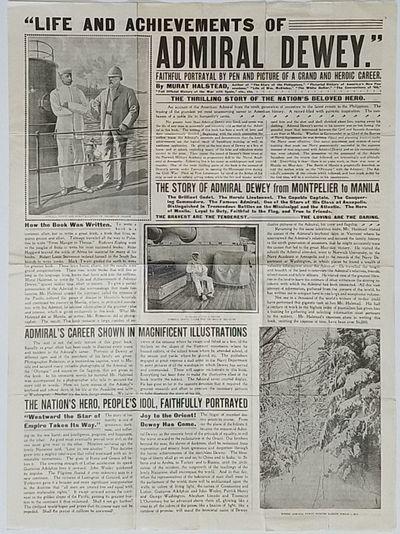 Chicago: North American Publishing Company, 1899. Very good. Publisher's broadsheet prospectus, 21.5...