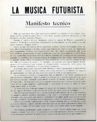 La Musica Futurista: Manifesto Tecnico by  Balilla [Futurist Music] Pratella - [1911] - from Kenneth Mallory Bookseller. ABAA and Biblio.com