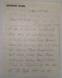 Autographed Letter Signed about Noel Coward