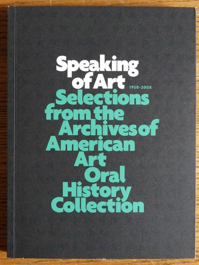 Washington, DC: Smithsonian Archives of American Art (Winterhouse Editions), 2008. Softcover. VG. Bl...