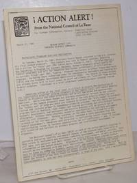 ¡Action alert! from the National Council of La Raza March 17, 1981; Reagan budget cuts threaten Hispanic community