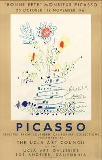Bonne fête, Monsieur Picasso. Poster (original lithograph, Mourlot 351). Also called Fleurs pour UCLA / Flowers for UCLA