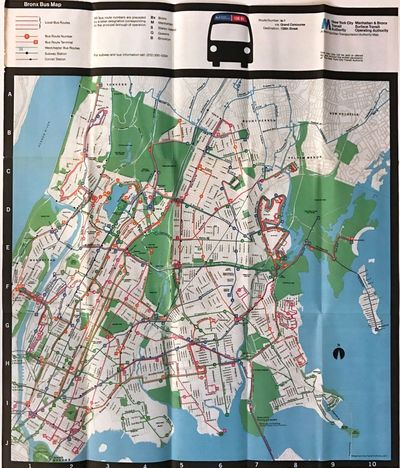 ABAA Bronx Bus Map by New York City Transit Authority Search for