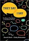 image of They Say / I Say: The Moves That Matter in Academic Writing (Fourth Edition)