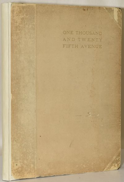 New York: , 1912. First Edition. Very Good binding. The only book of photos by forgotten New York ph...