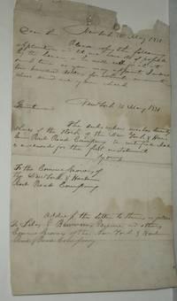 Original Document re: New York and Harlem Rail Road [sic] (Railroad) Signed By Simeon Baldwin