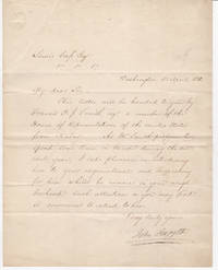 [ALS] Letter of Introduction from Secretary of State, John Forsyth to Lewis Cass