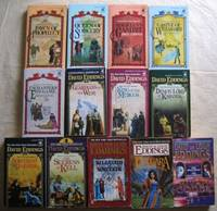 """The """"Belgariad"""" series (5 vol) with the sequel - The Malloreon; series (5 vol) with (prequels) & related - Belgarath The Sorcerer; - Polgara The Sorceress;  & - The Rivan Codex - COMPLETE 13  VOLUME set of """"The Belgariad"""" & """"The Malloreon"""" series"""