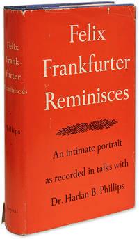 Felix Frankfurter Reminisces, Inscribed by Frankfurter to Harpo Marx