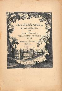 Zeitschrift Für Bücherfreunde, Achter Jahrgang, Heft 1, 1922.