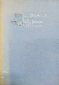 image of Bibliography of the Works of Isabel Anderson (Mrs. Larz Anderson)