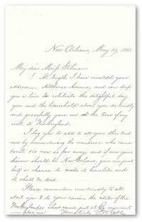 "[Autograph Letter, Signed, ""G.W. Cable""]"