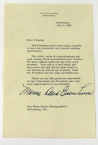 Typed Note Boldly Signed by  Mamie Daud Eisenhower - 1956 - from Montgomery Rare Books & Manuscripts and Biblio.com