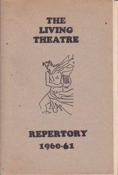 New York: The Living Theatre, 1960. First Edition. Season program for the avant-garde New York theat...