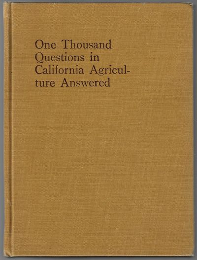 San Francisco: Pacific Rural Press, 1914. First Edition. Hardcover. Near fine. 257 pp, with index. S...