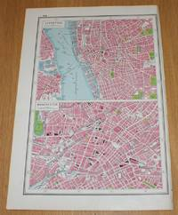 image of Street Plans of Liverpool and Manchester from Harmsworth's 1922 Atlas of the World - Single Sheet