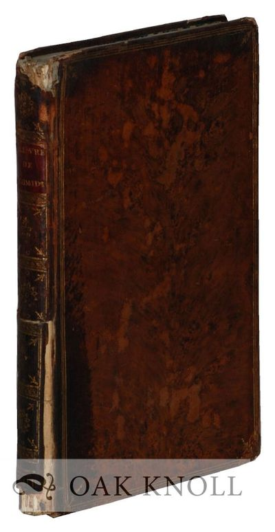London: n.p., 1789. full tree calf, red leather spine label. Schmidt, George Frederic. small 8vo. fu...